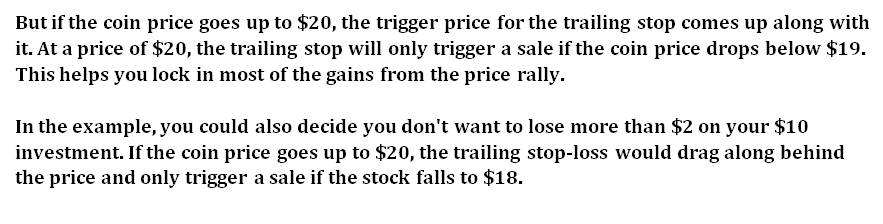 how Trailing stop loss work