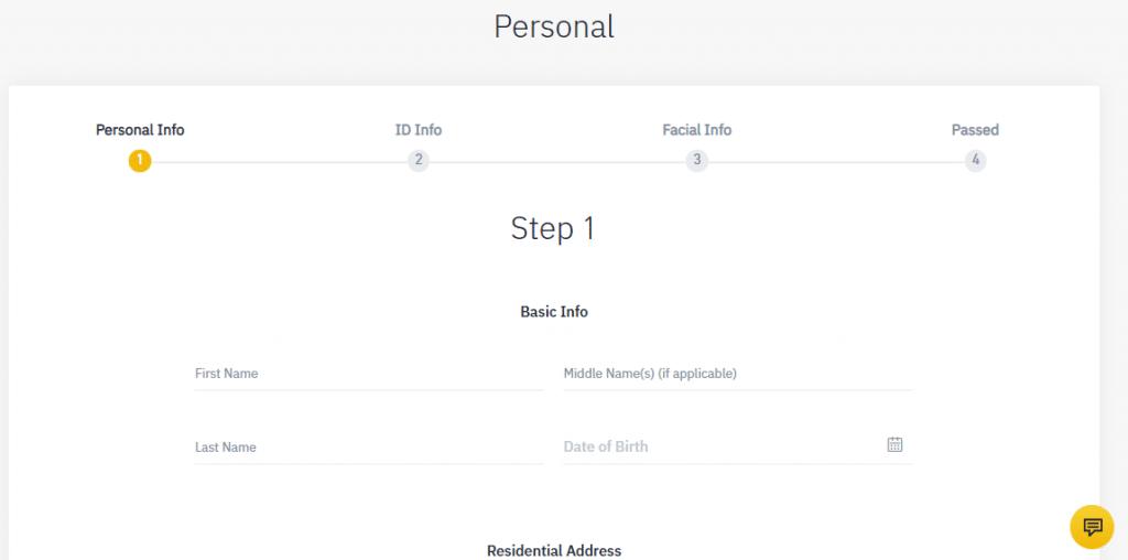 binance ID verification 2