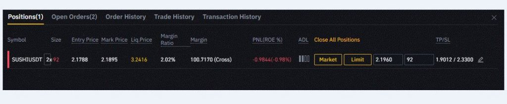 how to set a stop loss on binance futures