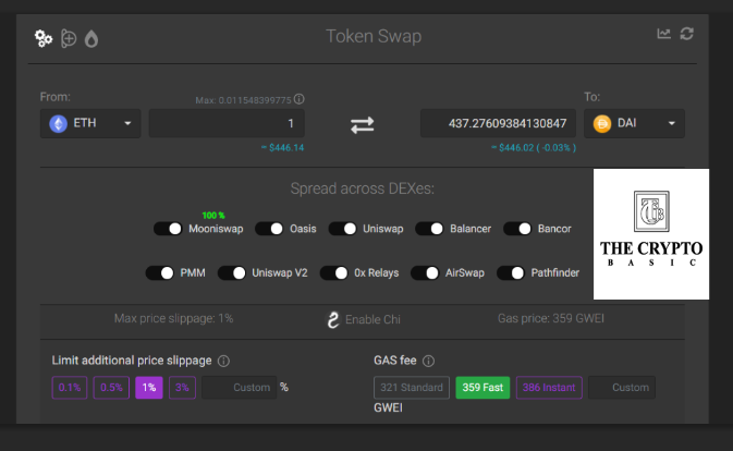 1inch exchange review: how to swap tokens on 1inch exchange