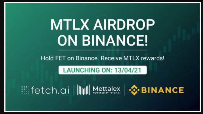 Binance To Support MTLX Airdrop for FET Holders