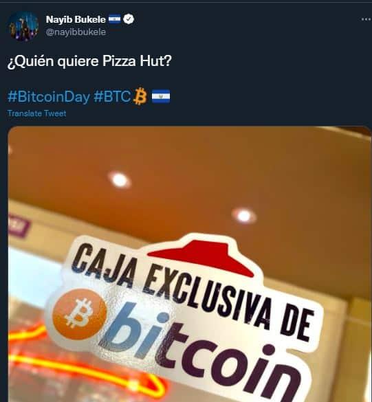 pizza hut accepting btc in el salvador